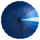 Зонт трость механический Спектр, синий/голубой фото