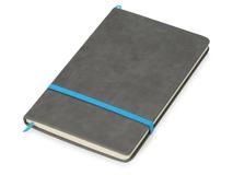 Блокнот А5 Color, 160 линованных страниц, серый с голубым фото