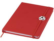 Блокнот на резинке с мячом Rowan А5, 80 листов, красный фото