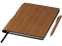 Блокнот с авторучкой Bardi А5, 80 листов, древесный фото