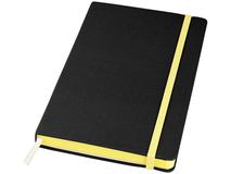 Блокнот на резинке Frappe А5, 80 листов, черный/желтый фото