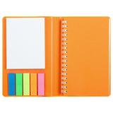 Блокнот нелинованный со стикерами Адъютант Freestick, 72 листа, оранжевый/ красный фото