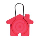 Брелок в виде домика пластик-металл, красный фото