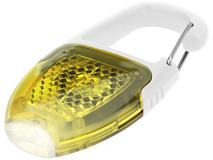 Брелок - фонарик с отражателем и карабином, желтый фото