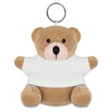 Брелок мягкая игрушка мишка, коричневый/белый фото