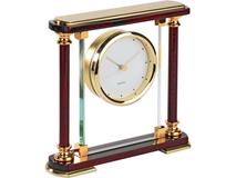 Часы Эдинбург, прозрачный, золотой, красный фото