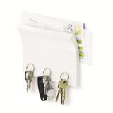 Держатель для ключей и писем magnetter белый, белый фото