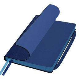 Ежедневник недатированный Portobello Trend Chameleon Smart, синий/голубой, 145х210, 256 стр, для лазерной гравировки, срез голубой, 2ляссе фото