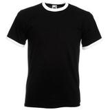 Футболка Ringer T, черный, белый фото