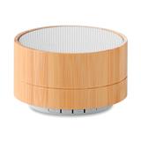 Колонка Bluetooth круглая, древесный /белый, 3 Вт фото