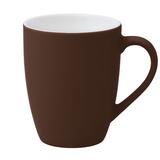 Кружка Good Morning c покрытием софт-тач, коричневая, коричневый фото