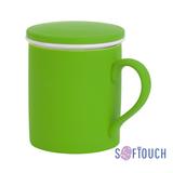 Кружка Jungle, покрытие soft touch, зеленый фото