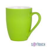 Кружка Trend, покрытие soft touch, салатовый фото