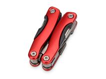 Мультиинструмент-пассатижи в чехле для ношения на поясе, красный фото