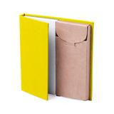 Набор LUMAR: листы для записи (60шт) и цветные карандаши (6шт), желтый фото