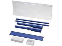 Набор Mindy: ручки шариковые, карандаши, линейка, точилка, ластик, синий фото