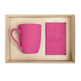 Набор подарочный PROVENCE-2: универсальное зарядное устройство(4000мАh) и кружка, розовый/ коричневый фото