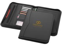 Папка А4 Ebony на молнии с держателем для ручки, карманом, отделениями для документов и блокнотом на 20 стр, черный фото