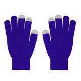 Перчатки для сенсорных экранов женские, синий/серый фото