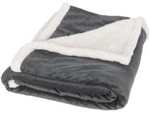 Плед Sherpa, серебряный/серый, белый фото