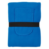 Плед Уютный с карманами для ног, синий, синий фото