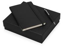 Подарочный набор Moleskine Hemingway с блокнотом А5 и ручкой, черный фото