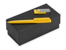 Подарочный набор Qumbo с ручкой и флешкой, желтый фото