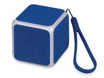 Портативная колонка Cube с подсветкой, синяя фото