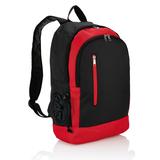 Рюкзак с отделением для бутылки воды, черный, красный фото