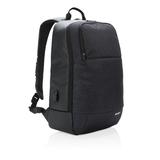Рюкзак Swiss Peak для ноутбука 15'', меланжевый полиэстер, черный фото