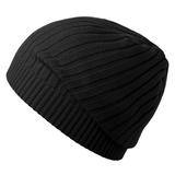 Шапка Stripes, черная фото