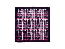 Шелковый платок Ungaro Tweed, синий/розовый фото