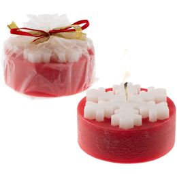 Свеча «Снежинка», красная фото