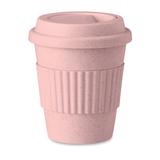 Термокружка из бамбука, розовый фото