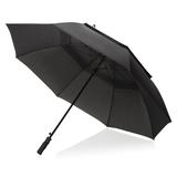 Зонт трость антишторм полуавтомат Swiss Peak Tornado 30, черный фото