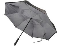 Зонт трость наоборот полуавтомат Marksman Lima, черный/ серый фото