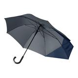 Зонт трость полуавтомат Portobello Dune, серый/ темно-синий фото