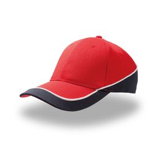Бейсболка Racing, красный/темно-синий, 94% полиэстер 6% вискоза,180  г/м2 фото