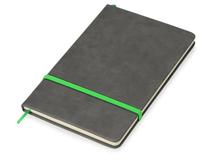 Блокнот А5 Color, 160 линованных страниц, серый с зеленым фото