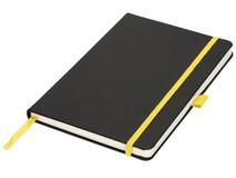 Блокнот на резинке Lasercut А5, 80 листов, черный/желтый фото