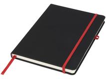 Блокнот А5 Noir, черный с красным фото