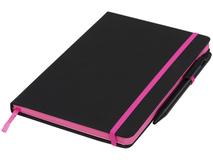 Блокнот А5 Noir Edge, черный с розовым фото