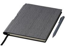 Блокнот с авторучкой Bardi А5, 80 листов, серый фото