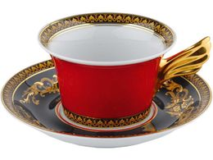 Чайная пара Medusa, черный, золотой, красный фото