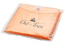 Дождевик с капюшоном в чехле, оранжевый фото