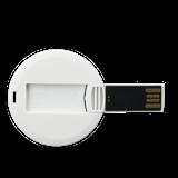 Флешка карточка Круг, пластиковая, белая, 16Гб фото
