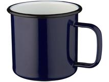 Кружка походная эмалированная, темно-синий фото