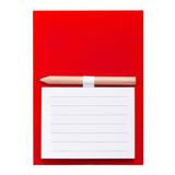 Магнит с листами для записи и карандашом YAKARI, красный фото