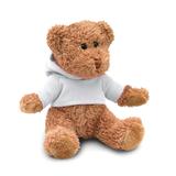 Медведь в футболке, белый фото