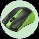 Мышь беспроводная RITMIX RMW-555, зеленая фото